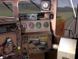 At the controls of the new BNSF SD40-2 available from the TrainSim Insider site.