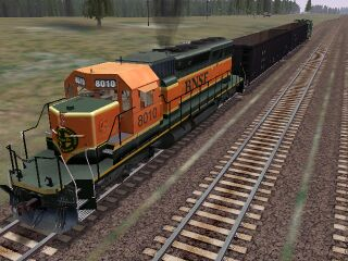 A view of the new BNSF SD40-2 available from the TrainSim Insider site.