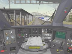 In the cab of a TGV Atlantic at Avignon TGV station. This cab is in the updated Speedworks TGV Addon pack 1.